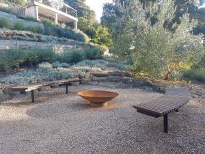 Colac Rock, Drought tolerant plants, Compacted sandstone, Fire pit area