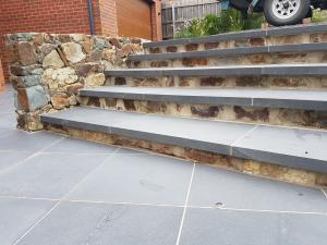 Coldstream stone steps, Bluestone capping pavers