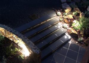 lighting the Stone wall, garden lighting,